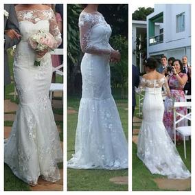 Vestido De Noiva Sereia , Usado Apenas Uma Vez.