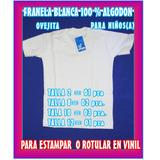 Franelas De Algodón Y Franelas De Polyester Para Niños