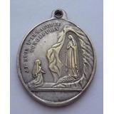 Antigua Medalla De La Virgen De Lourdes Basilica Francia