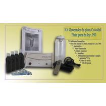 Kit Generador Plata Coloidal, Agua De Plata