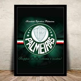 Poster Quadro Palmeiras Palestra Moldura E Vidro 45x35cm #1