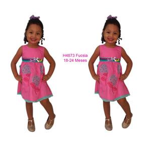 Vestido Bellos Niñas Casual Vestir Algodón Rym H4873