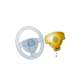 Unidade Airbag Para Volante Preto Titan Saveiro Gol