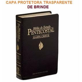 Bíblia De Estudo Pentecostal Media Harpa Cristã Preta + Capa