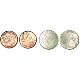 Lote De Las 2 Nuevas Monedas 1 Y 5 Pesos Serie Árboles S/c