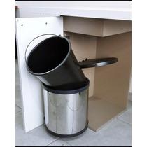 Porta Residuos Acero Inoxidable 15 Lts - Herrajes Bonzini
