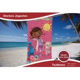 Toallón Doctora Juguete 100% Algodón Tondosado Disney Piñata