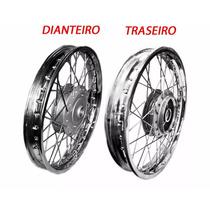 Roda Raiada Dianteira + Traseira P/ Moto Titan Cg150