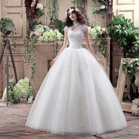 Hermoso Vestido De Novia Blanco Con Abalorios Princes Encaje