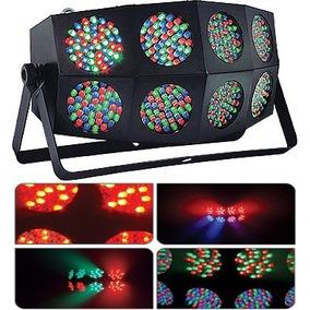 Iluminação 8 Canhões Aura Multiraios 360 Leds Dmx/ Auto/ Som