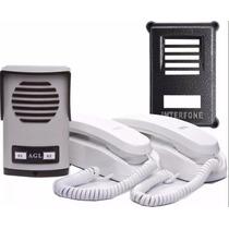 Porteiro Eletrônico Coletivo 2 Pontos Agl 2 Fones E Proteção