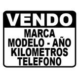 Plotter Sticker Calco Vinilo Cartel Vendo Auto X 3 Unidades