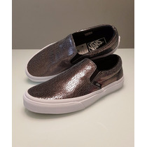 Tênis Vans Couro Metalico | Slip On Leather Cracked Tam 36