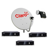 Kit Claro Tv Pré-pago Com 3 Receptores Digital