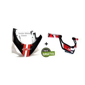 Bico Pato Spoiler + Slider Protetor Motor Bros 150 E 125.*
