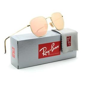 bc0a81ee62040 Ray Ban Hexagonal Flat Len - Óculos De Sol Ray-Ban Com lente ...