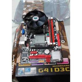 Tarjeta Madre Biostar G41d3c Socket 775 Ddr3+procesador+memo