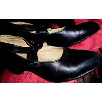 Zapatos Baile Folklore Jazz Nº30- Cuero Suela