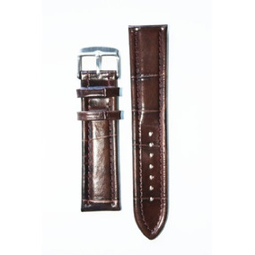 Estilo 22mm Brown Oscuro Breitling Correa De Cuero Italiano