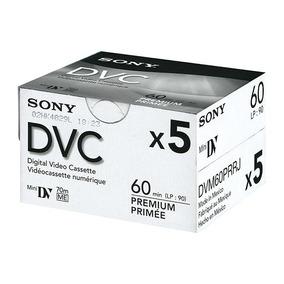 5 Video Cassettes Digital Sony Mini Dv 60min Dvc Dvm60prr