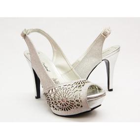 Zapatillas Plata Dama Lucrecia Cordero