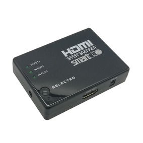 Hdmi Switch 4k 30hz 3d 3 Inputs 1 Output With Remote Control