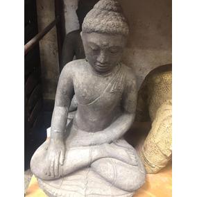 Buda Sentado Bumisparsa 45cm Pedra/cimento Indonesia