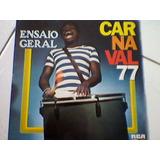 Lp Vinil Carnaval 77 Ensaio Geral/silvio Santos,raul Gil,e +