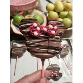 Paletas De Bombon Con Chocolate De Minnie Y Mickey