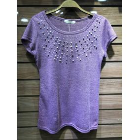 T-shirts Camiseta Feminina Blusa Pedrarias