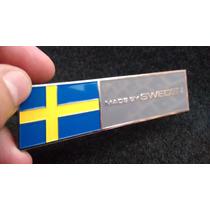 Emblema Em Metal Made In Sweden Alta Qualidade!!!