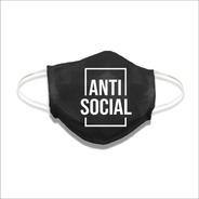 Mascara De Tecido Lavável Não Descartável Anti Social
