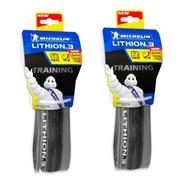 Par De Pneus Michelin Lithion 3 Performance 700x25c Kevlar