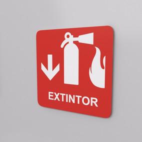 Señal De Extintor Protección Civil 15 Cm X 15 Cm