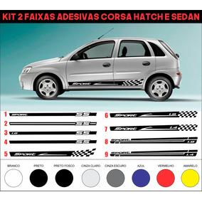 Acessorios Faixa Lateral Corsa Hatch Ou Sedan Chevrolet