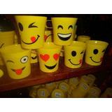 Vasito De Plastico Resistente Emojis Material Pop Cotillon R