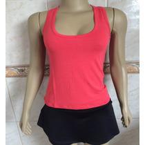 5 Regata Feminina Nadador Atacado Camiseta Blusa Viscolycra