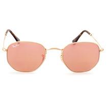 Gafas De Sol Ray Ban Rb 3548 Lente Rosa Marco Dorado Nuevo