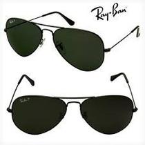 Oculos Rayban Aviador Original Preto Feminino Masculino
