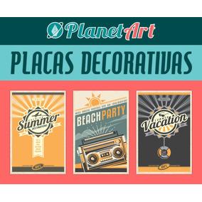 Adesivos Decorativas 30x20 Retrô Vintage Frases Bebidas Bar