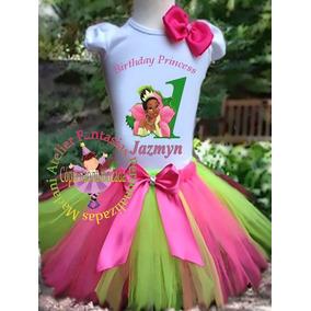 Fantasia Aniversário Infantil Princesa Tiana Disney Luxo