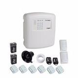 Kit Alarme Sem Fio 8 Sensores + 2 Controles + Discadora