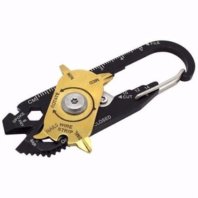 Chaveiro Mosquetão Edc 20 Em 1 Multi Tools Ferramenta Barato