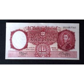 Billete Argentino 10 Pesos (m/n) Leyes 12962-13571 (1942-69)
