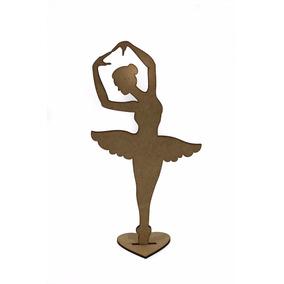 10pçs Bailarina 30cm Decoração Festas Centro De Mesa Mdf Cru