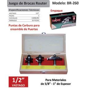 Juego Brocas Router Oakbr-260 3 Piezas