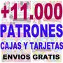 11000 Patrones Imprimible Cajas Marcos Tarjetas Fondos