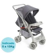 Carrinho De Bebê - - Pegasus - Cinza Galzerano
