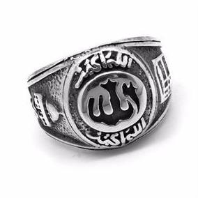 Anel Alá Deus Árabe Em Prata Masculino Usa Joias 16288