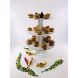Porta Cupcakes 3 Pisos Calado Fibrofacil Candy Bar